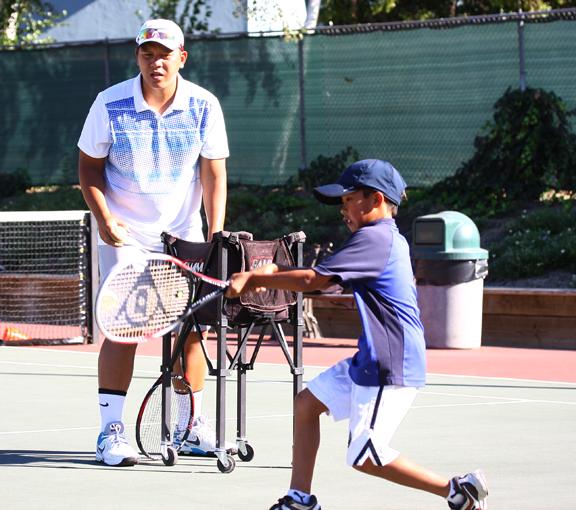 coach Calvin coaching Justin