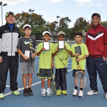 Top 3 spots at 10U USTA tournament taken by NorCal Tennis Academy players Nov. 1st