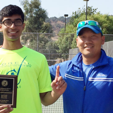 Sahaj earned MVP award from Archbishop Mitty HS.