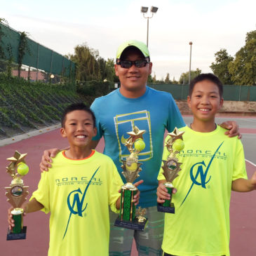 NorCal Tennis Academy players dominated the 2015 USTA 10U and 12U sectional event