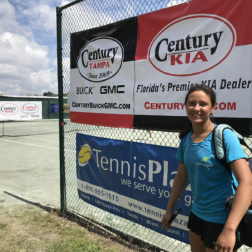 Back to back Professional first win for our junior player Gaby at the Tampa $15,000 ITF and USTA Pro circuit event – March 2018