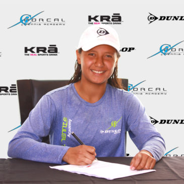 Gaby signed with Saint Mary College, a ranked tennis private university in Northern California